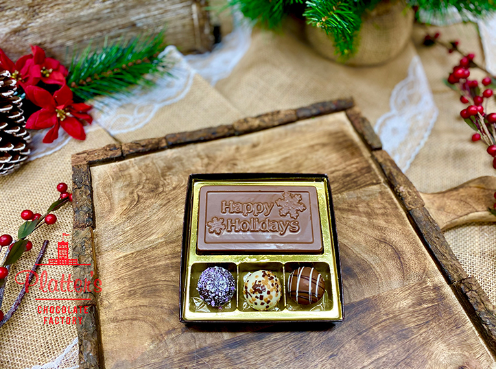 Small Happy Holidays Bar with Truffles